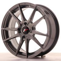 Japan Racing JR21 17x7 ET25-40 4H Custom Hiper Black