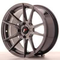 Japan Racing JR21 17x8 ET25-35 4H Custom Hiper Black