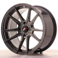 Japan Racing JR21 17x9 ET25-35 4H Custom Hiper Black