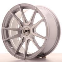 Japan Racing JR21 17x8 ET35 Custom Silver Machined