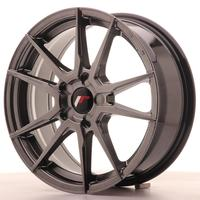 Japan Racing JR21 17x7 ET35-40 5H Custom Hiper Black