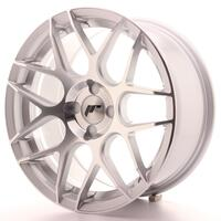 Japan Racing JR18 17x8 ET25-35 4H Custom Machined Silver