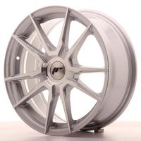 Japan Racing JR21 17x7 ET25-40 Custom Machined silver