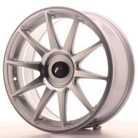 JAPAN RACING JR11 18X7,5 ET40 - 5x112 SILVER MACHINED - Set af 4 styk.