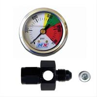 Nitrous Express Flow-Through Nitrous Pressure Gauges AN-4 Male-Female